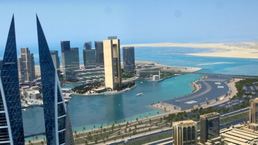 Bahrain Bay Aerial View