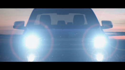 Ford Ranger Headlights at Dusk