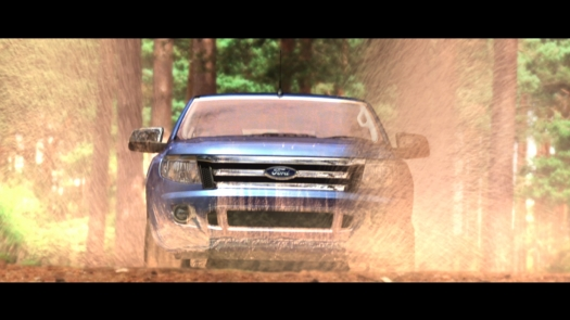 Ford Ranger on Dirt Track