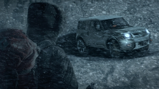 Range Rover Defender Concept Driving in Snow